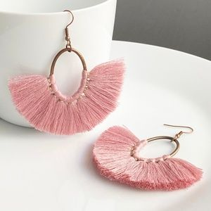 "Jewelry - NEW ""Amoret"" Tassel Earrings (Dust rose)"
